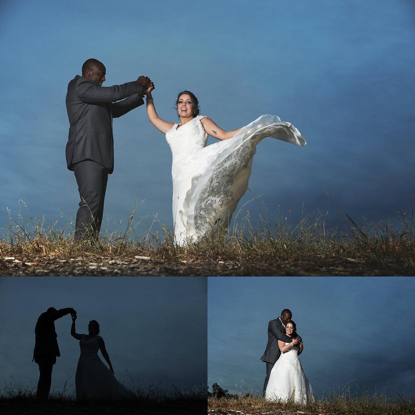 Bride And Groom Enjoying Amazing Sunset On A Beautiful: Loving Memories Photography & Design, LLC